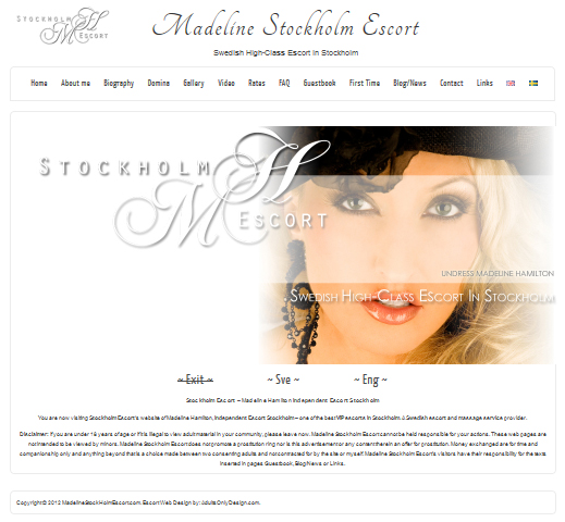 footworship escort web design